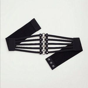 torrid Accessories - Nwt Torrid size 00 Caged O ring Black Belt